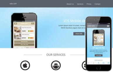 Min App a Mobile App based Flat Bootstrap Responsive Web Template