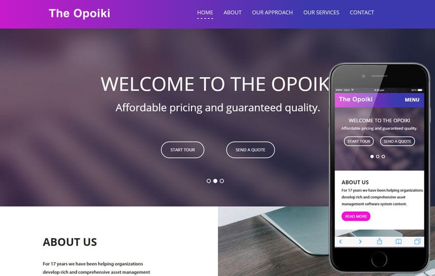 The Opoiki a Corporate Business Flat Bootstrap Responsive Web Template