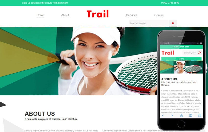 Trail a Sports Category Flat Bootstrap Responsive Web Template