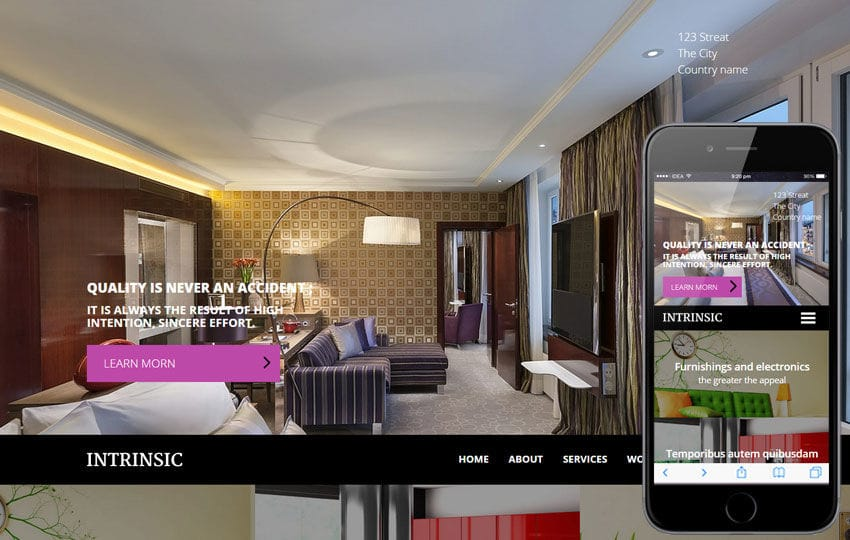 Intrinsic a Interior Architects Multipurpose Flat Bootstrap Responsive Web Template
