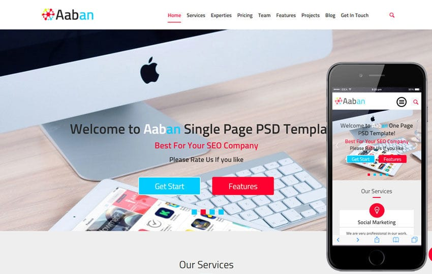 Aaban a Corporate Business Flat Bootstrap Responsive Web Template