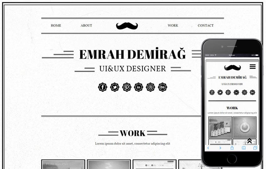 Emrah Demirag a Onepage Portfolio Flat Bootstrap Responsive Web Template