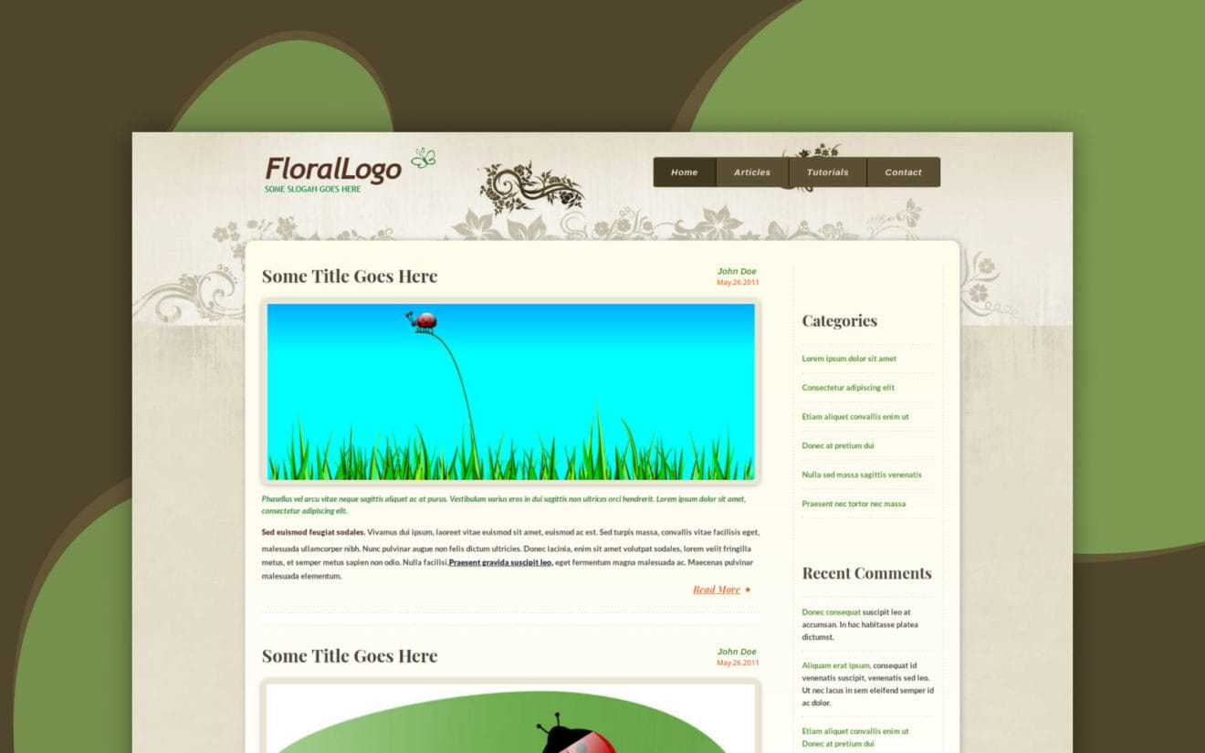 Floral a Blogging Category Flat Bootstrap Responsive Web Template