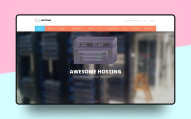 Hosting a Web Hosting Flat Bootstrap Responsive Web Template