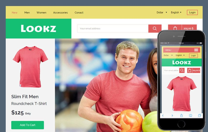 Lookz a Flat Ecommerce Bootstrap Responsive Web Template