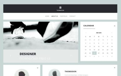 Thomsoon UI Kit a Flat Bootstrap Responsive Web Template