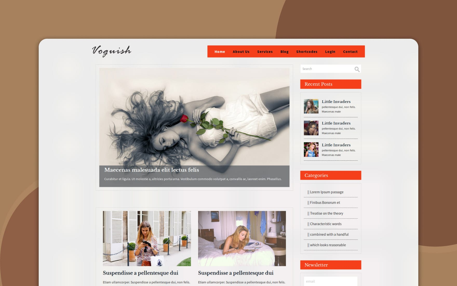 Voguish a Blogging Category Flat Bootstrap Responsive Web Template