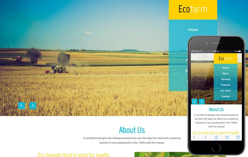 Eco Farm a Agriculture Category Flat Bootstrap Responsive Web Template