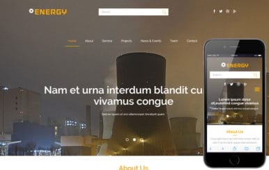 Energy a Industrial Category Flat Bootstrap Responsive Web Template