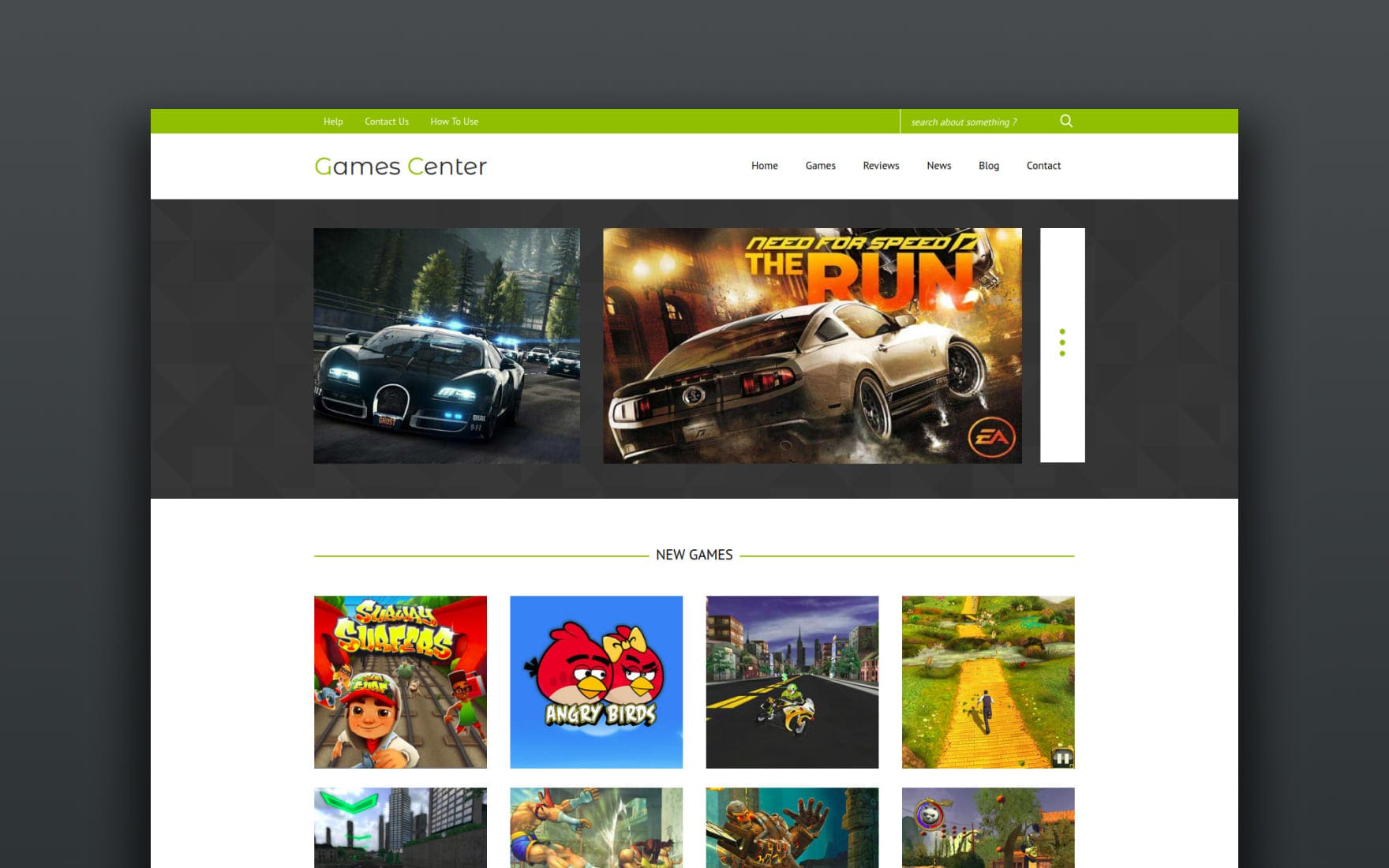 Games Center a Games Category Flat Bootstrap Responsive Web Template