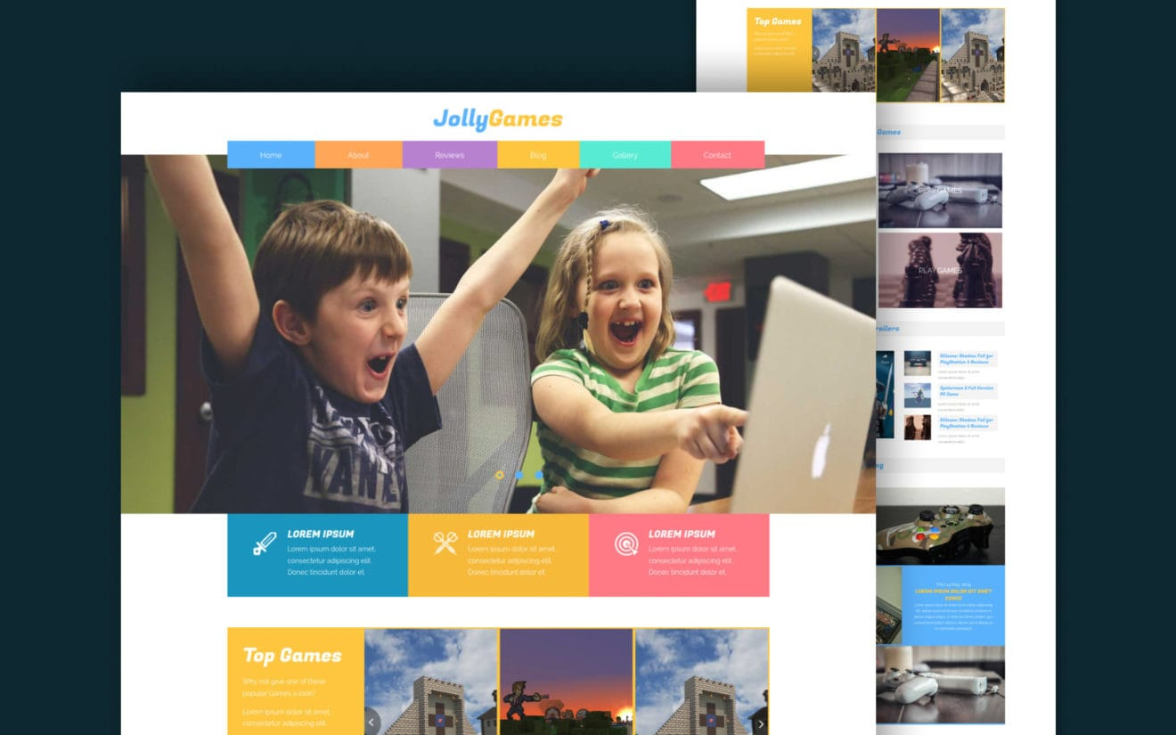 Jolly Games a Games Category Flat Bootstrap Responsive Web Template
