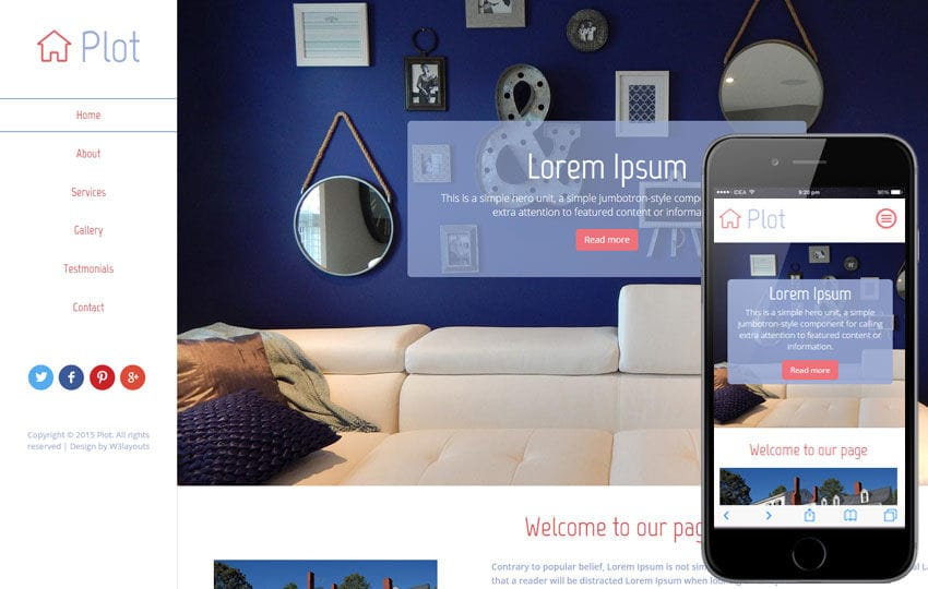 Plot a Real Estate Category Flat Bootstrap Responsive Web Template
