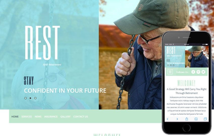 Rest a People and Society Category Flat Bootstrap Responsive Web Template