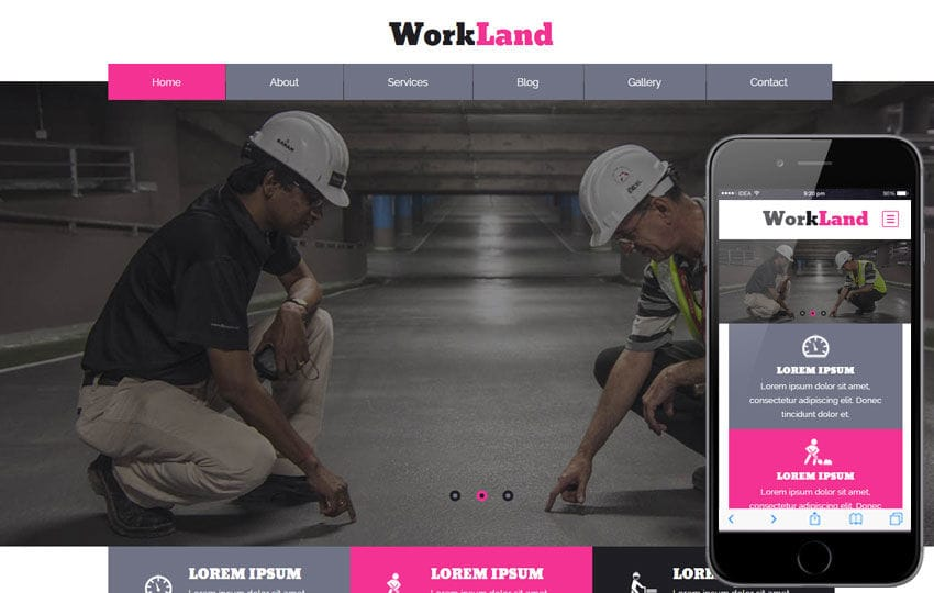 Work Land a Industrial Category Flat Bootstrap Responsive Web Template