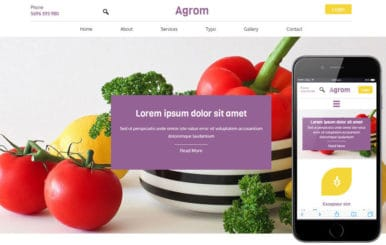 Agrom a Agriculture Category Flat Bootstrap Responsive Web Template