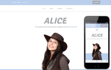 Alice a Personal Portfolio Flat Bootstrap Responsive Web Template