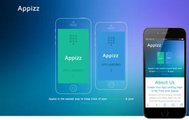 Appizz a Mobile App based Flat Bootstrap Responsive Web Template