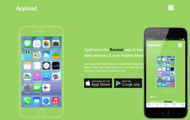Appload a Mobile App based Flat Bootstrap Responsive Web Template