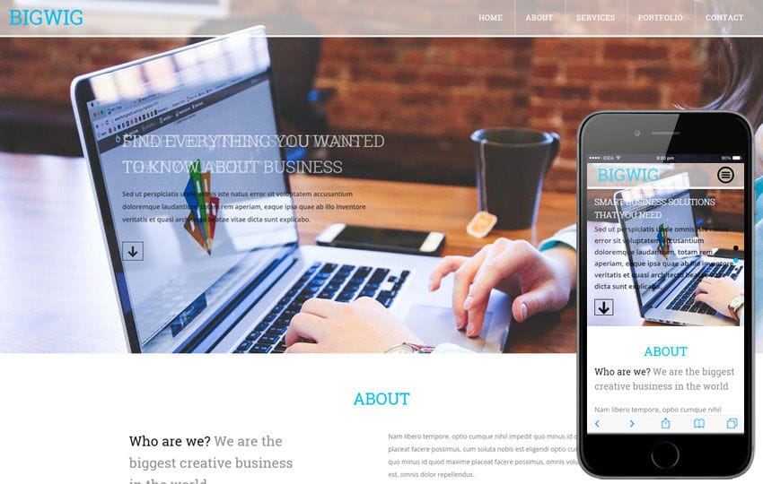 Big Wig a Corporate Business Flat Bootstrap Responsive Web Template