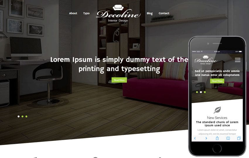 Decoline a Interior Architects Multipurpose Flat Bootstrap Responsive Web Template