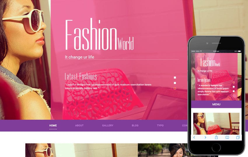 Fashion World a Fashion Category Flat Bootstrap Responsive Web Template