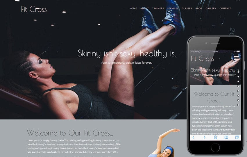 Fit Cross a Sports Category Flat Bootstrap Responsive Web Template
