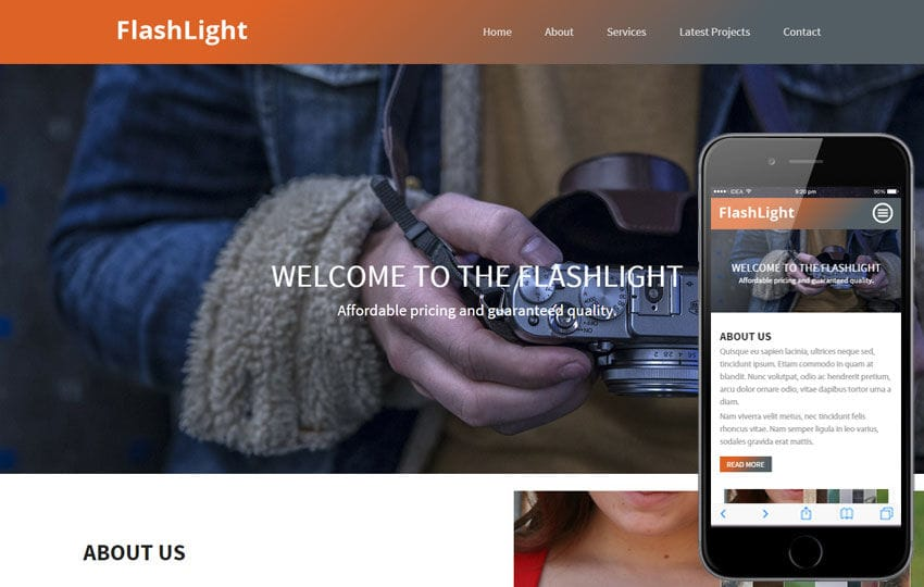 Flash Light a Photo gallery Flat Bootstrap Responsive Web Template
