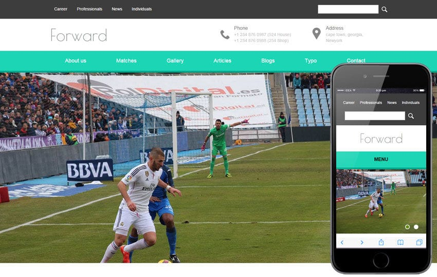 Forward a Sports Category Flat Bootstrap Responsive Web Template