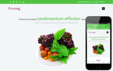 Fruveg a Agriculture Category Flat Bootstrap Responsive Web Template