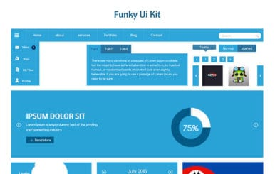 Funky UI Kit a Flat Bootstrap Responsive Web Template