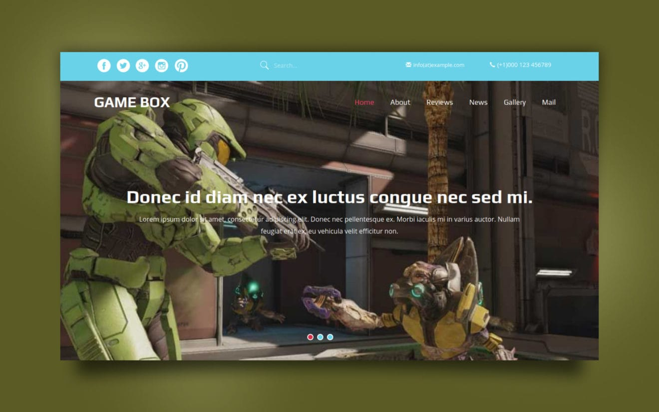 Game Box a Games Category Flat Bootstrap Responsive Web Template
