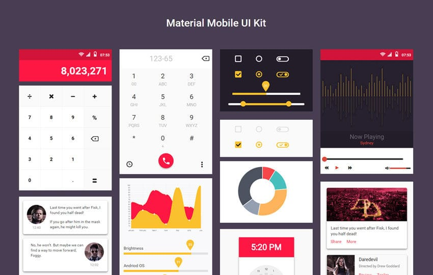 Material Mobile UI Kit a Flat Bootstrap Responsive Web Template