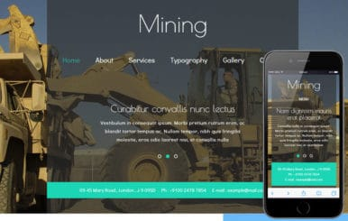 Mining a Industrial Category Flat Bootstrap Responsive Web Template