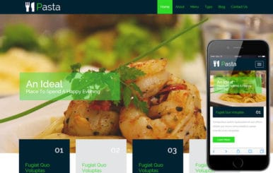 Pasta a Hotel Category Flat Bootstrap Responsive Web Template