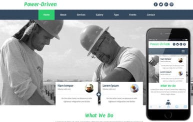 Power Driven a Industrial Category Flat Bootstrap Responsive Web Template