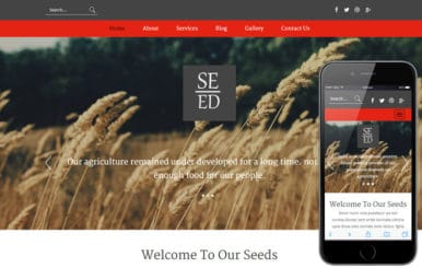 Seed a Agriculture Category Flat Bootstrap Responsive Web Template