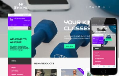 Shape a Flat Ecommerce Bootstrap Responsive Web Template