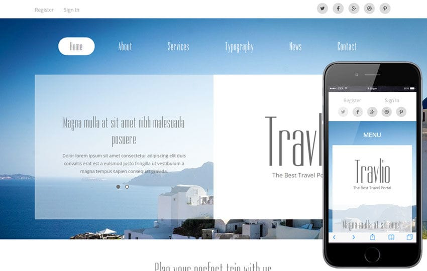 Travlio a Travel Guide Flat Bootstrap Responsive web template