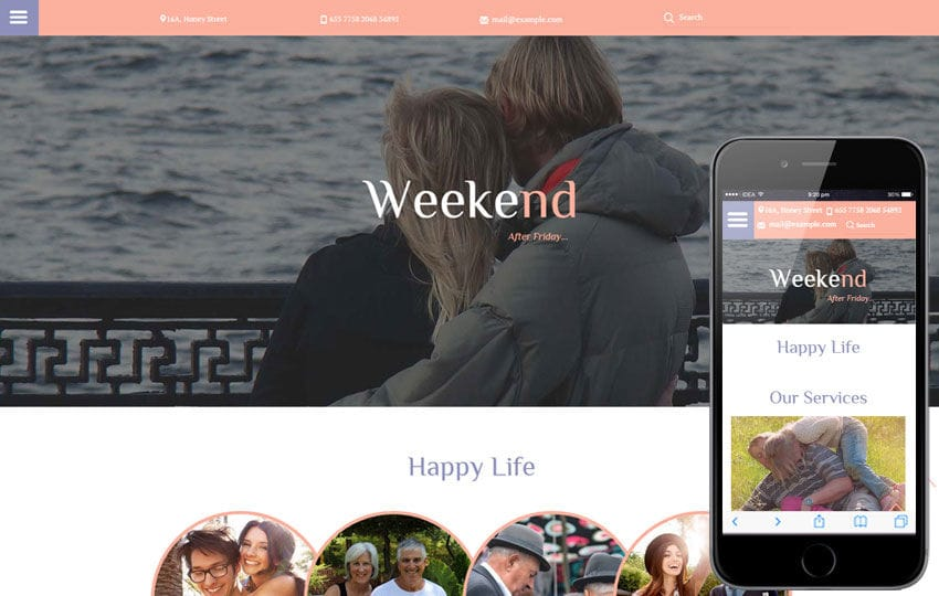 Weekend a People Category Flat Bootstrap Responsive Web Template
