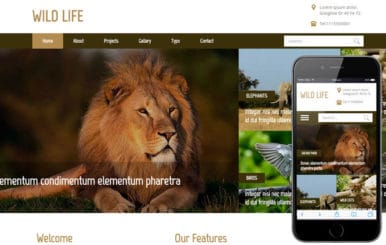 Wild Life a Animal Category Flat Bootstrap Responsive Web Template