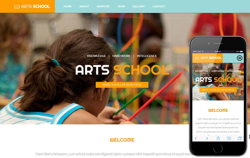 Arts School a Educational Category Flat Bootstrap Responsive web template