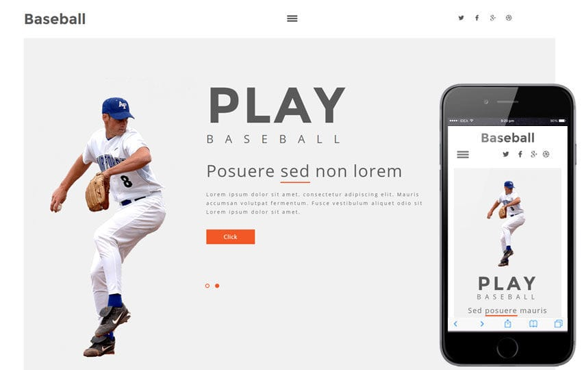 Base Ball a Sports Category Flat Bootstrap Responsive Web Template