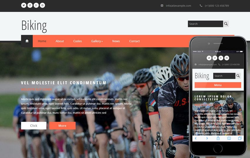 Biking a Sports Category Flat Bootstrap Responsive Web Template
