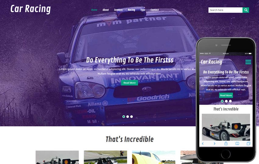 Car Racing a Auto Mobile Category Flat Bootstrap Responsive Web Template