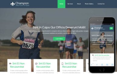 Champion a Sports Category Flat Bootstrap Responsive Web Template