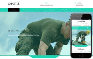 Chattle a Industrial Category Flat Bootstrap Responsive Web Template