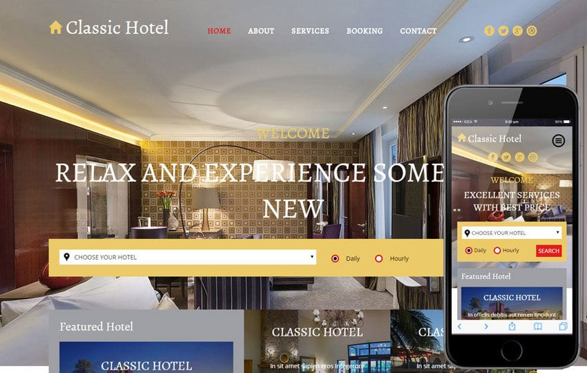 Classic Hotel a Hotel Category Flat Bootstrap Responsive Web Template