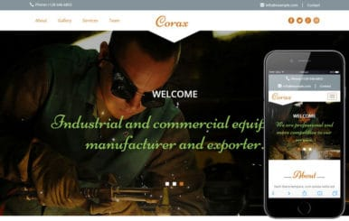 Corax a Industrial Category Flat Bootstrap Responsive Web Template
