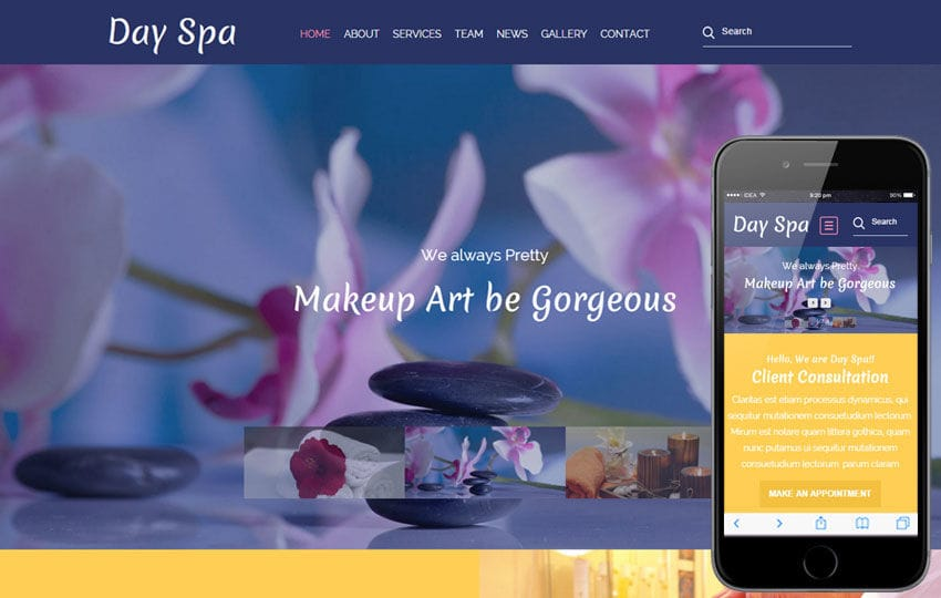Day Spa a Beauty and Spa Category Flat Bootstrap Responsive Web Template