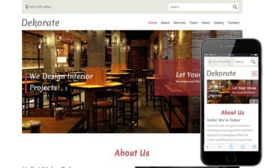 Dekorate a Interior Architects Multipurpose Flat Bootstrap Responsive Web Template